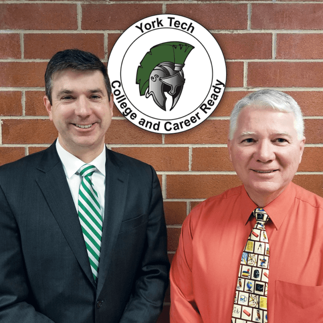 Jim Roberts and Scott Rogers of York County School of Technology.