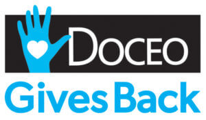 Doceo Gives Back Logo